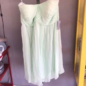 NWT Strapless Evening Dress Mint Green Women's